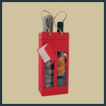 Gift Tote - Tall Double with Windows - Red
